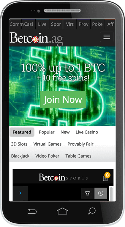 Betcoin Casino on Mobile