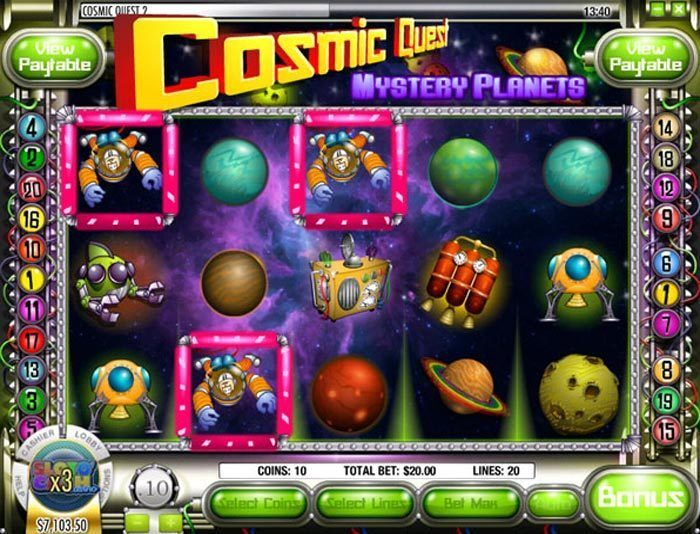 Cosmic Quest Mystery Planets Pokie