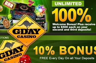 Gday Casino Online Review With Promotions & Bonuses