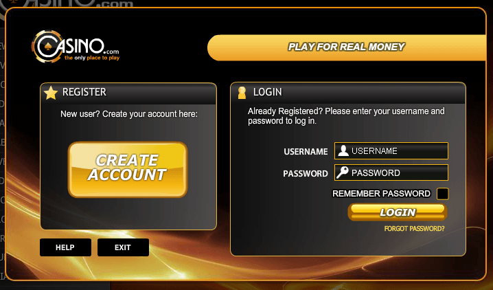 Choose the 'Create Account' option to register for a player account