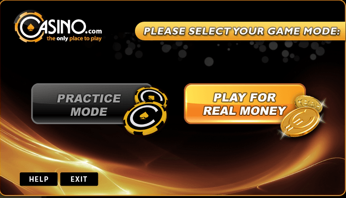 Choose the Play For Real Money option to play for real cash or choose free play if you first want to have a look around