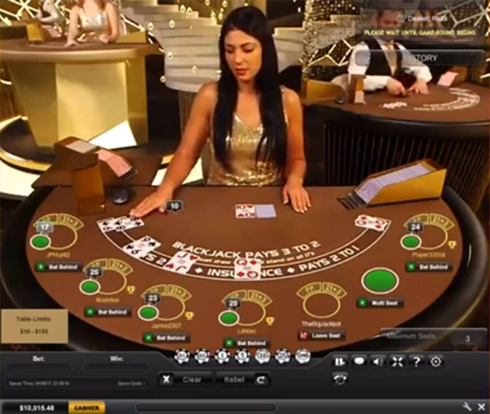Blackjack live from 32 Red Casino