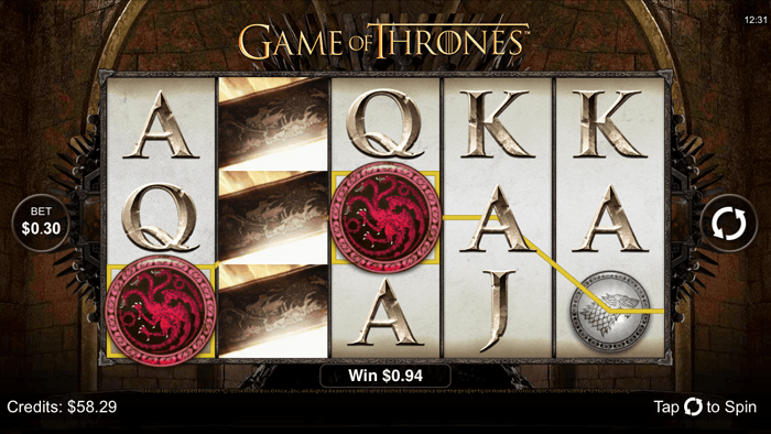 Over 50 slots like Game of Thrones on Android at Crazy Vegas Mobile