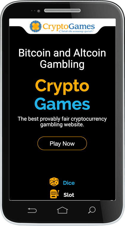 CryptoGames.net Casino on Mobile