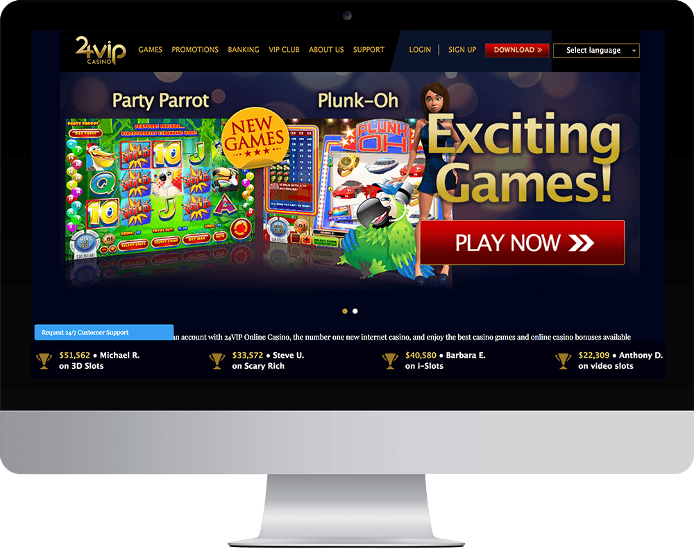 24VIP Casino on desktop