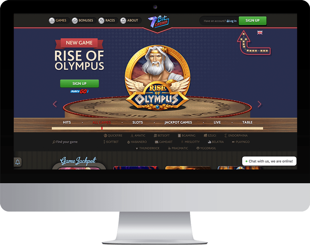 7Bit Casino on desktop