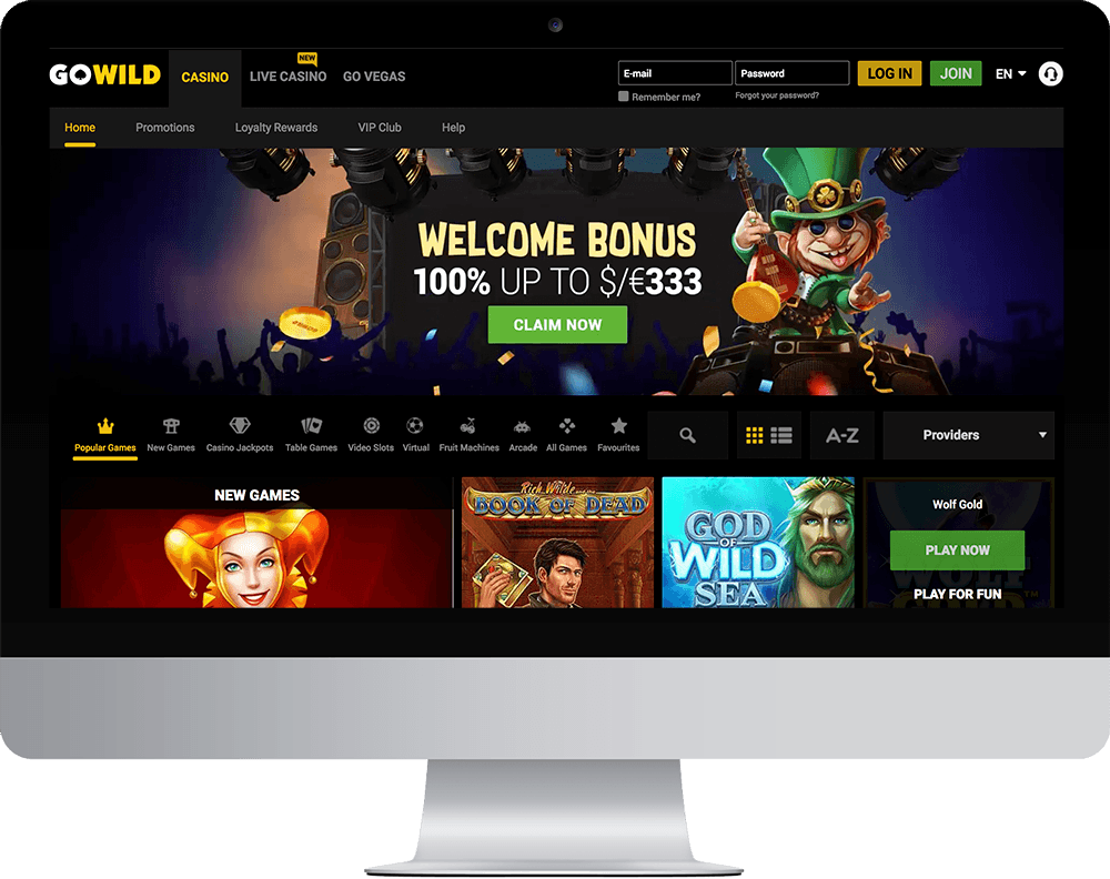 GoWild Casino on desktop