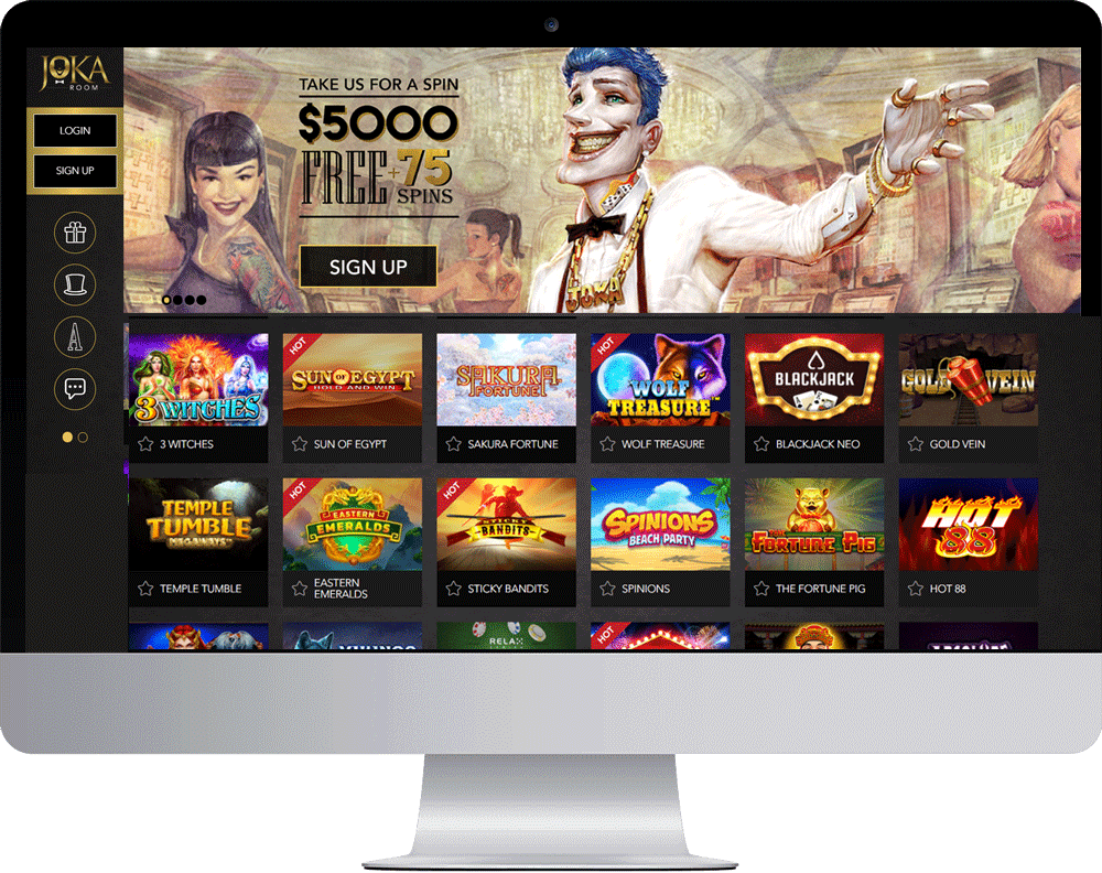 JokaRoom Casino on desktop