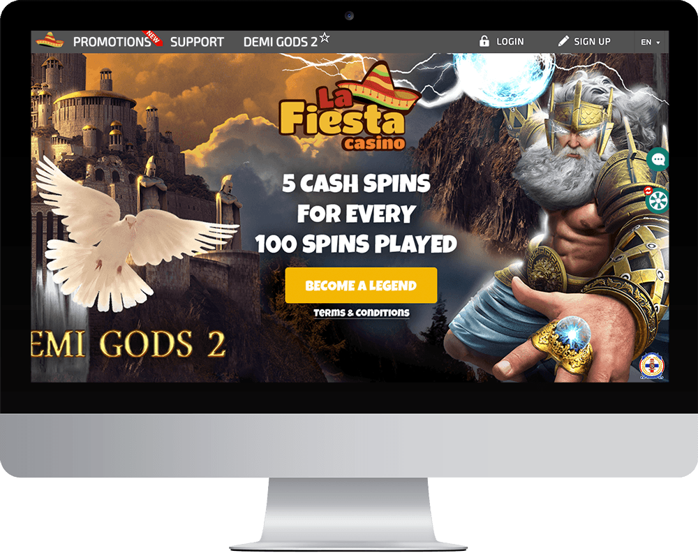 La Fiesta Casino on desktop