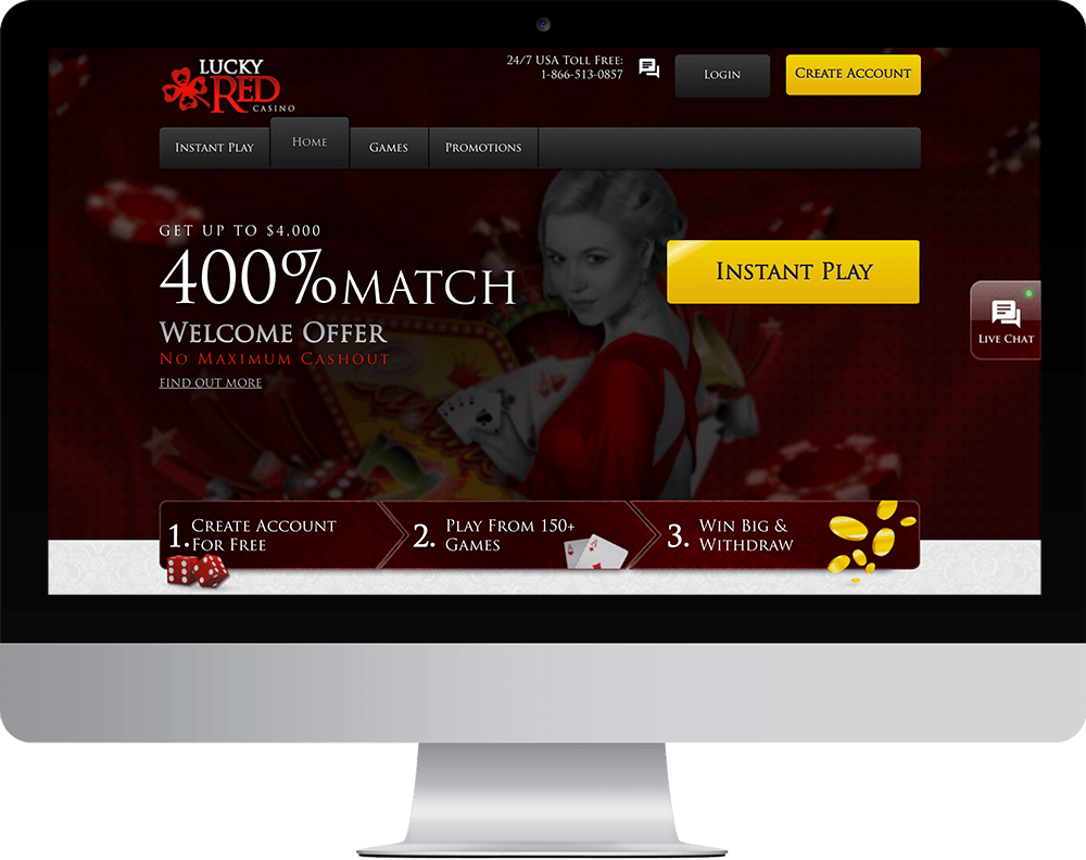 Lucky red Casino on desktop