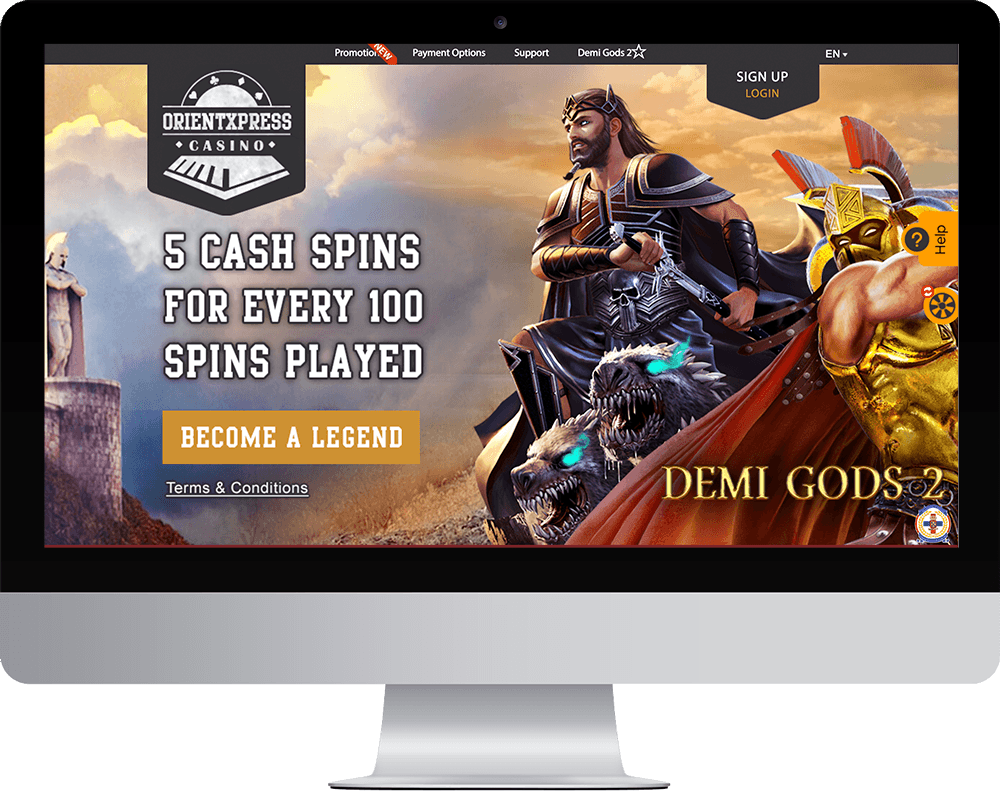 OrientXpress Casino on desktop