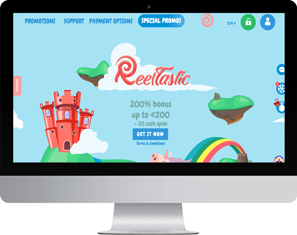 Reeltastic Casino on desktop