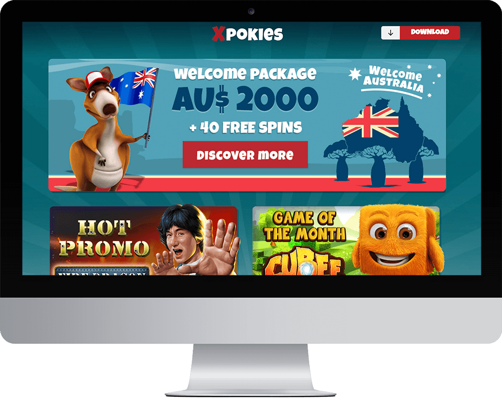 Xpokies Casino on desktop