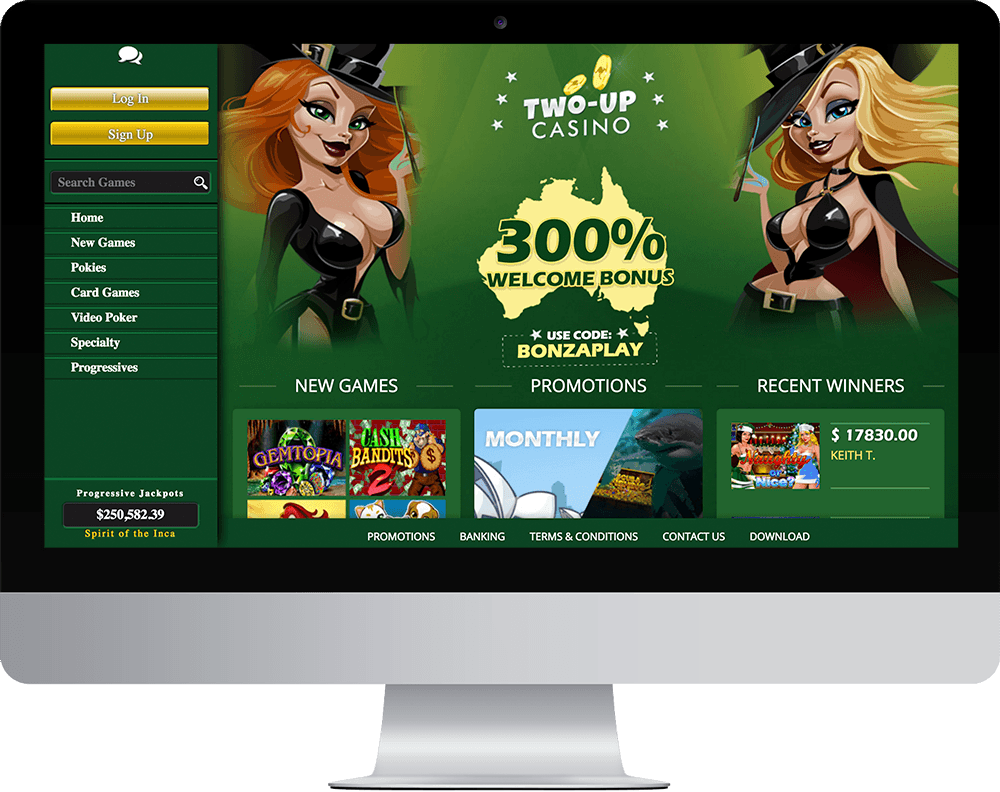 Two-Up Casino on desktop