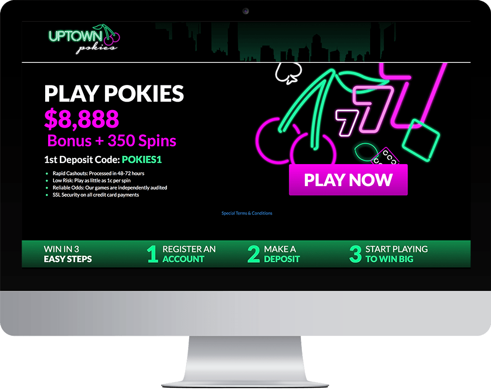 Uptown Pokies Casino on desktop