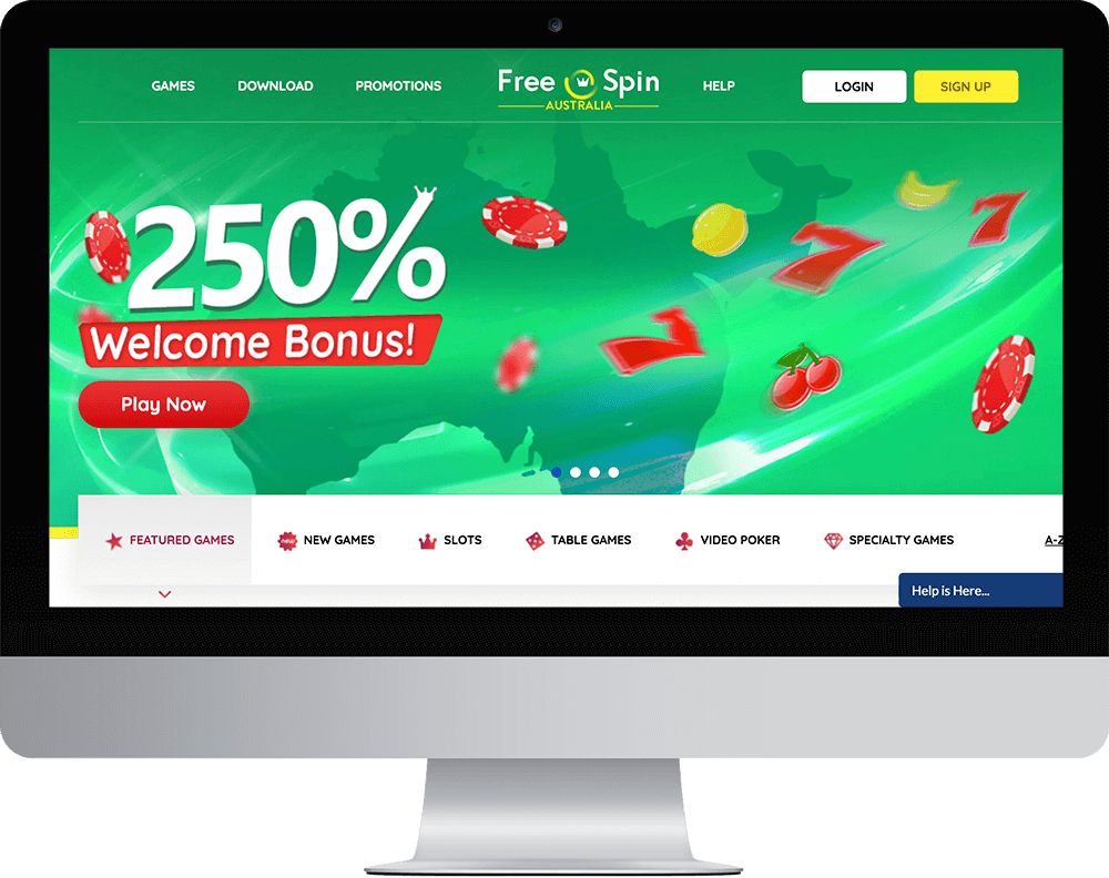 Free Spin Casino on desktop