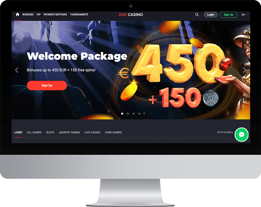 Joo Casino on desktop