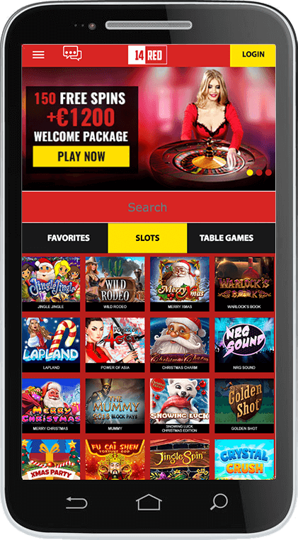 14Red Casino on Mobile