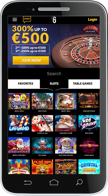 6Black Casino on Mobile