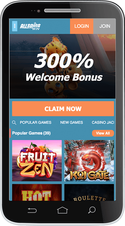 All Spins Casino on Mobile