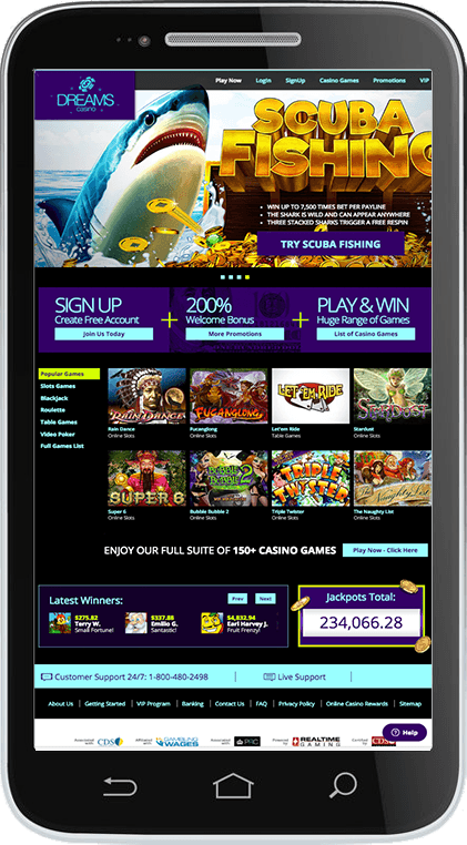 Dreams Casino on Mobile