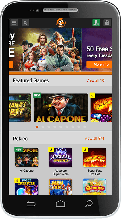 Emu Casino on Mobile