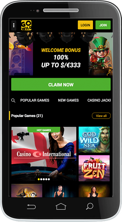 GoWild Casino on Mobile