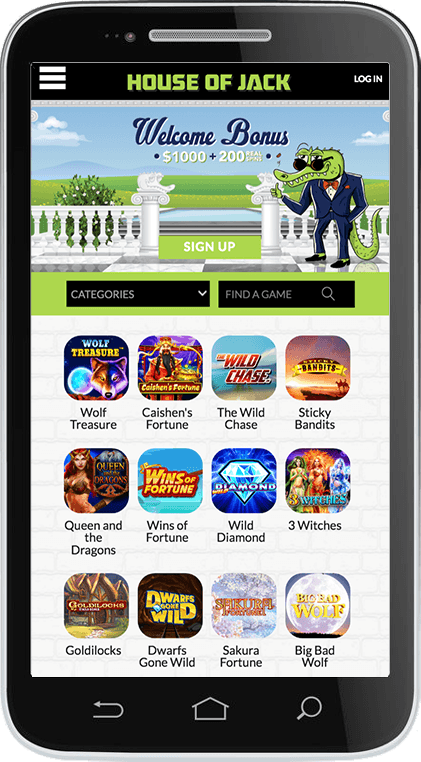 House Of Jack Casino on Mobile
