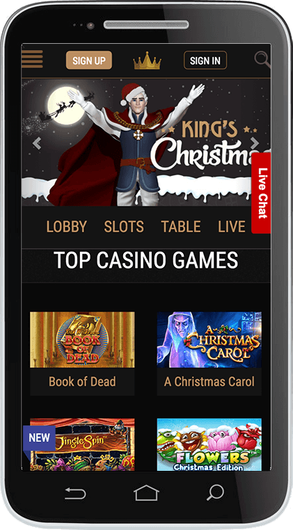 King Billy Casino on Mobile