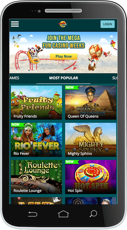 Luckland Casino on Mobile