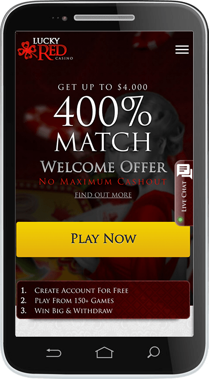 Lucky Red Casino on Mobile