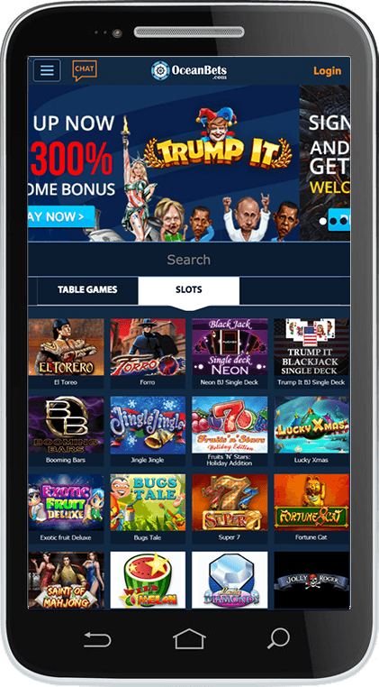 OceanBets Casino on Mobile