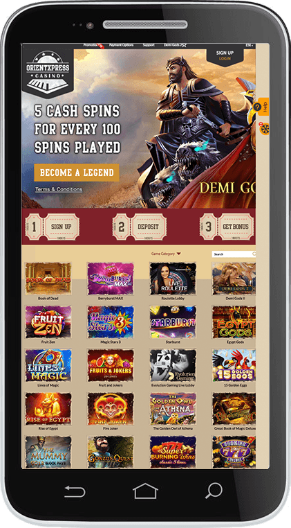 OrientXpress Casino on Mobile