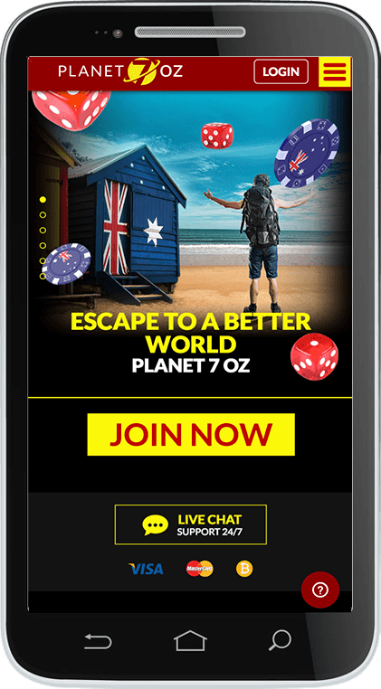 Planet 7Oz Casino on Mobile