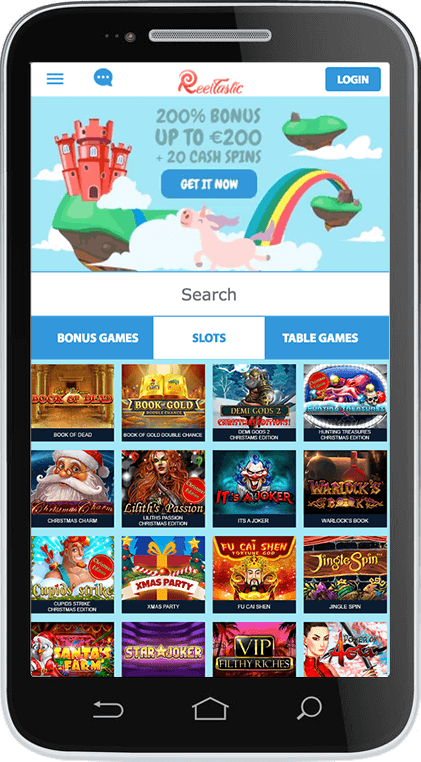 Reeltastic Casino on Mobile