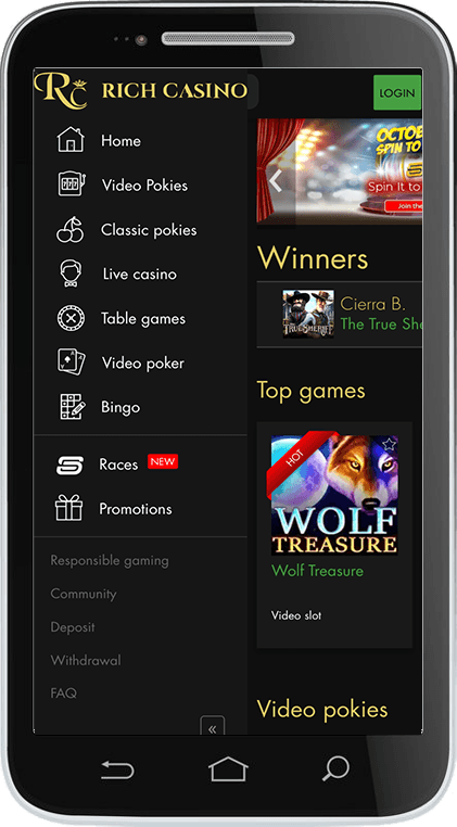 Rich Casino on Mobile