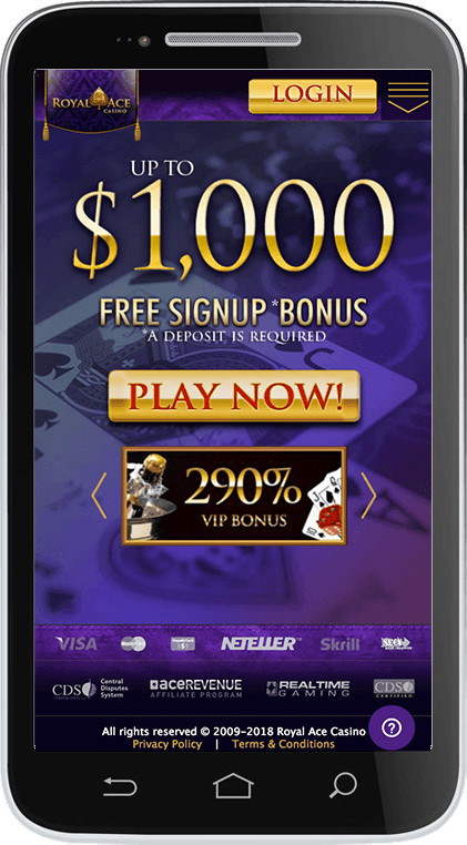 Royal Ace Casino on Mobile