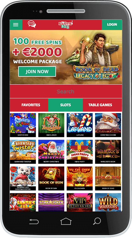 DSlots500 Casino on Mobile