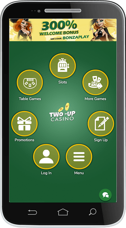 Two-Up Casino on Mobile