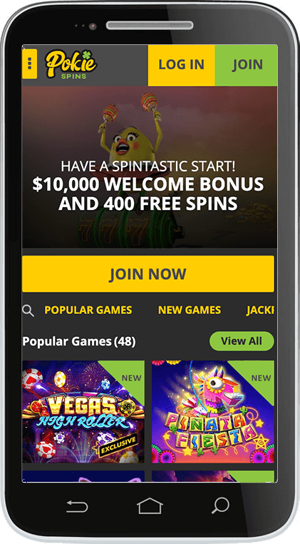Pokie Spins Casino on Mobile