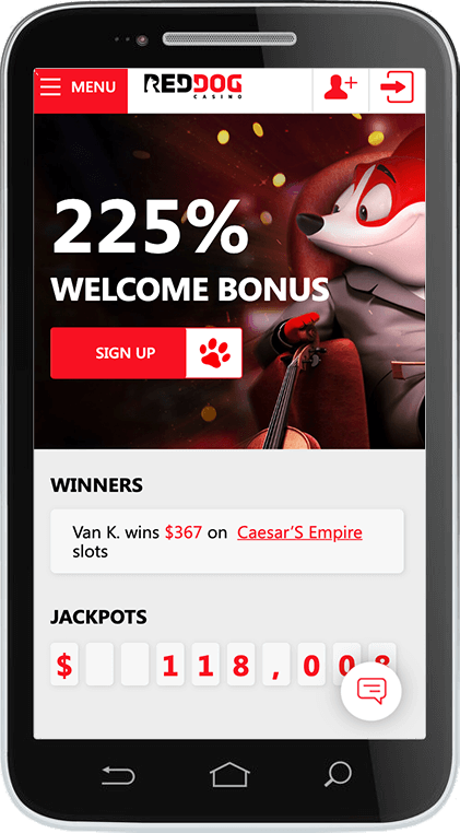 Red Dog Casino on Mobile