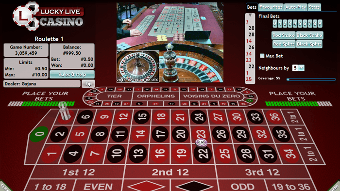 Great live dealer games from Lucky Live Casino