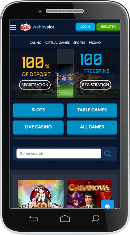 Webbyslot Casino on Mobile