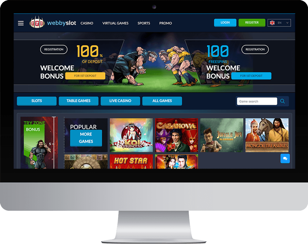 Webbyslot Casino on desktop